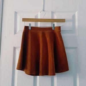 S Forever 21 camel corduroy skater mini skirt